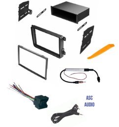 get quotations asc car stereo radio dash kit wire harness and antenna adapter for vw volkswagen [ 1080 x 1294 Pixel ]