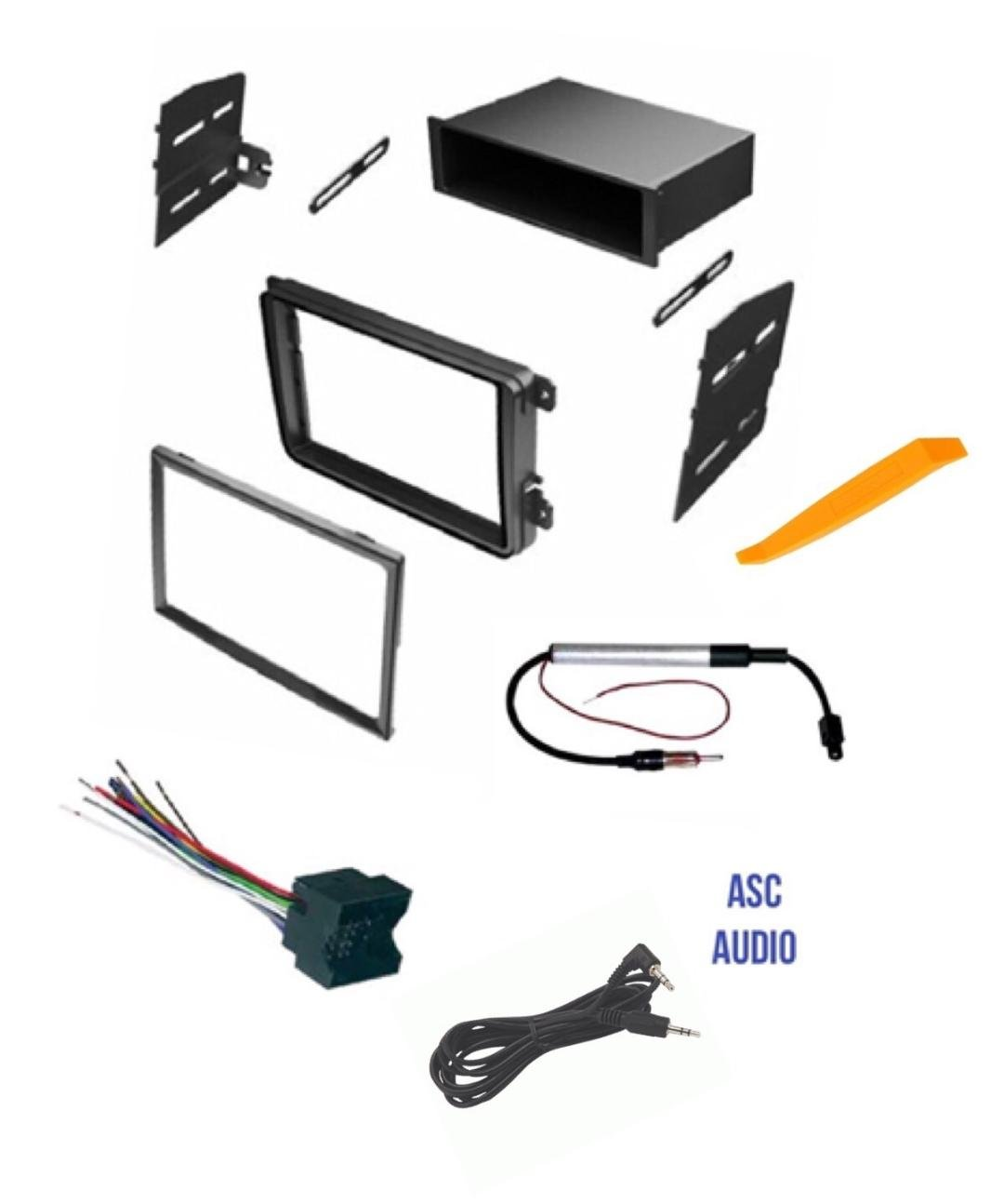 hight resolution of get quotations asc car stereo radio dash kit wire harness and antenna adapter for vw volkswagen