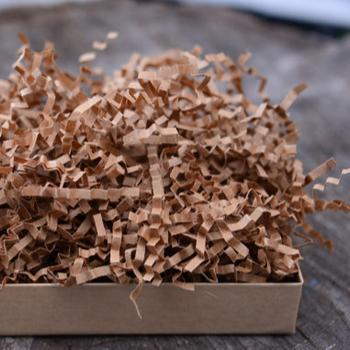 brown crinkle cut shredded