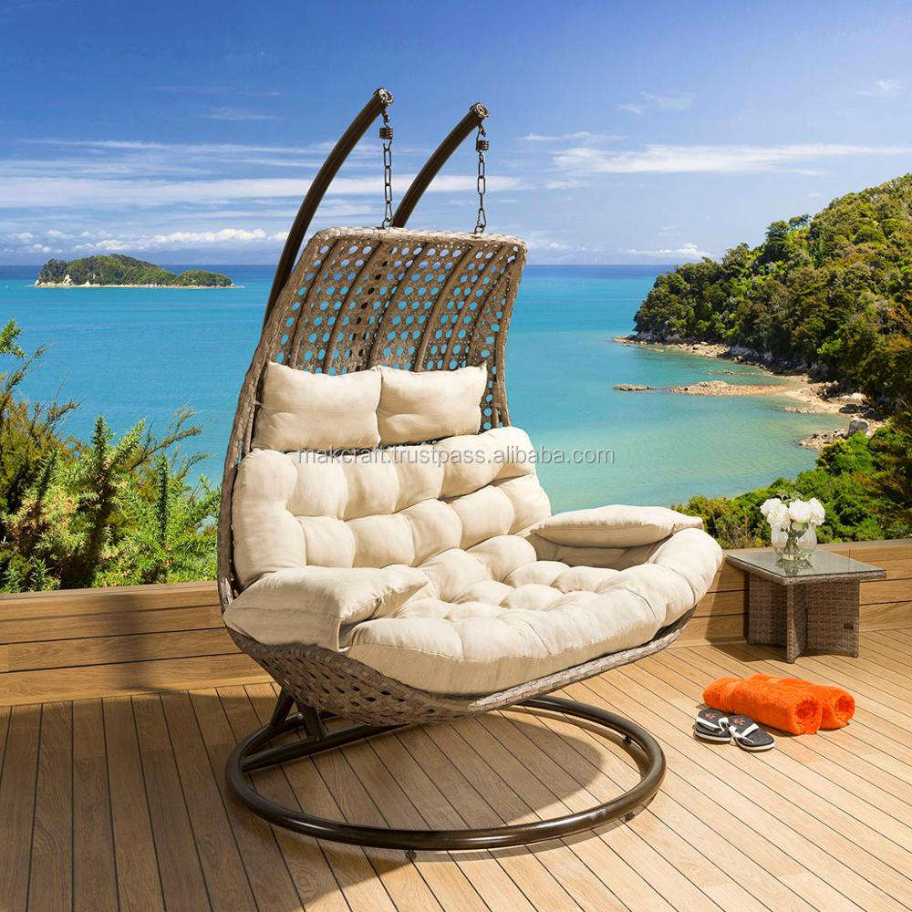 Double Egg Chair Leisure Patio Wicker Outdoor Rattan Double Swing Hanging Chair Garden Hanging Double Egg Shaped Chair Buy Patio Double Swing Chair Wicker Hanging