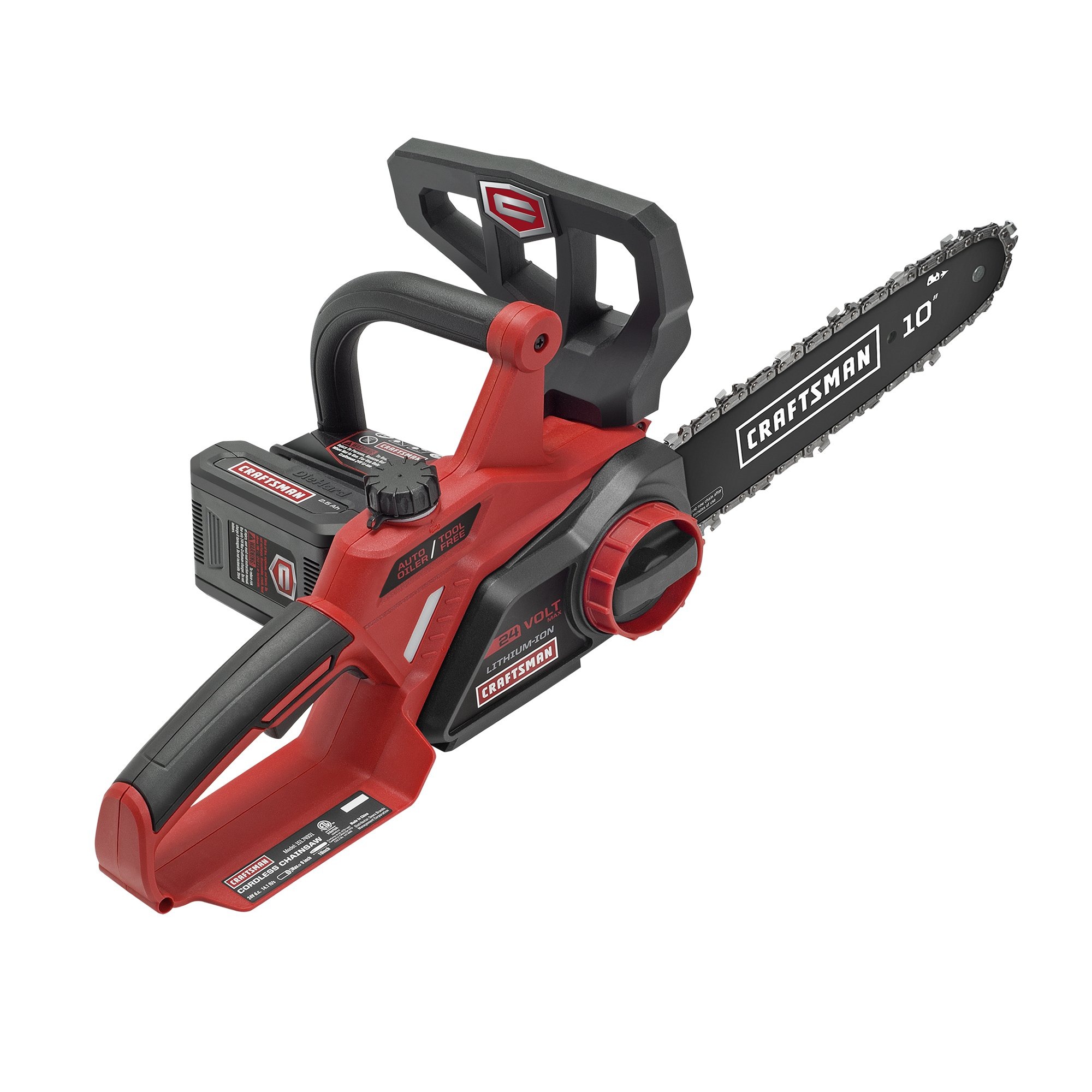 hight resolution of get quotations craftsman 24v max li ion 10 cordless chainsaw