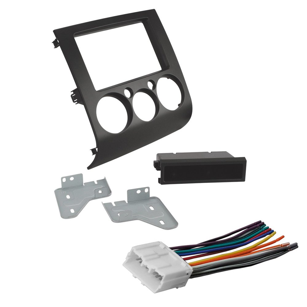 medium resolution of car stereo radio cd player dash install mounting kit harness for mitsubishi