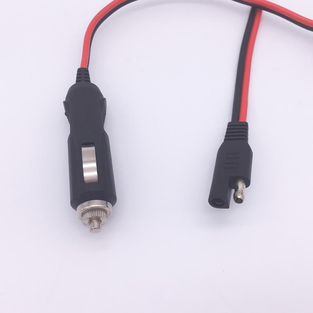 medium resolution of oem 12v ac dc adapter sae connector 18awg 2 core round cable trailer wiring harness