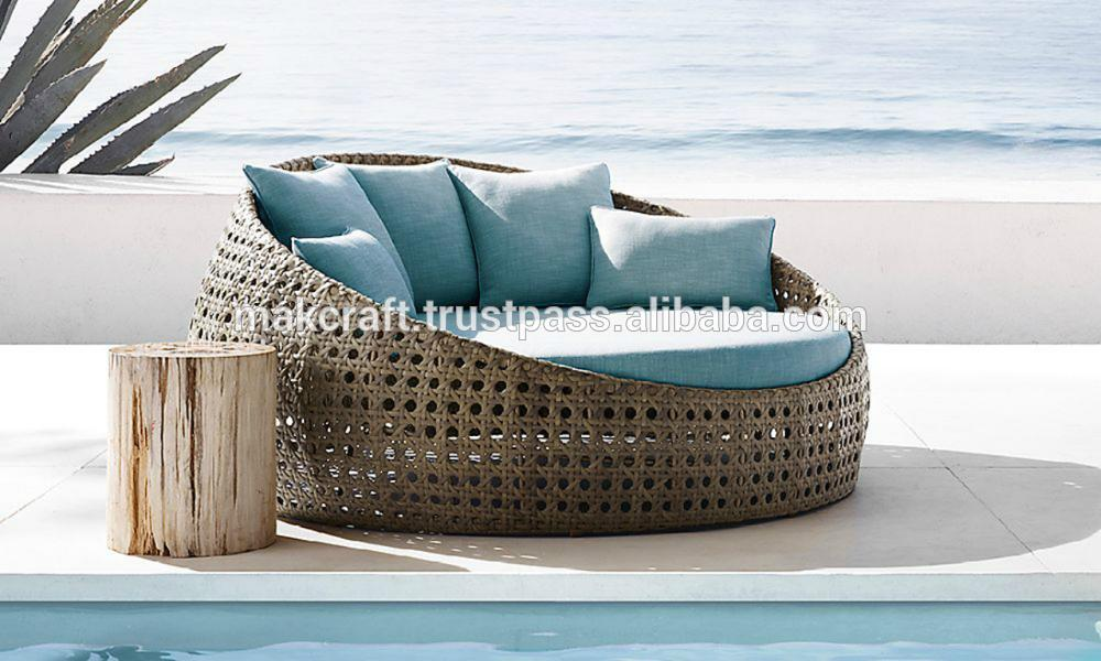 where to buy wicker chairs desk chair glides round rattan pool chaise lounge sun lounger - daybed -rattan ...