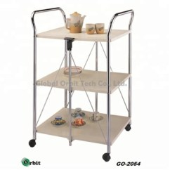 Kitchen Serving Cart Standard Trash Can Size Storage Food With Wheels Buy Rolling Trolley Product On Alibaba Com
