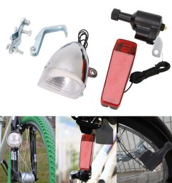 get quotations aixia bike light set motorized bike friction dynamo generator head tail light with acessories [ 1024 x 1024 Pixel ]