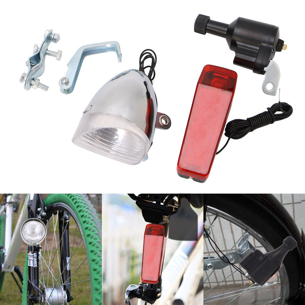 hight resolution of get quotations aixia bike light set motorized bike friction dynamo generator head tail light with acessories