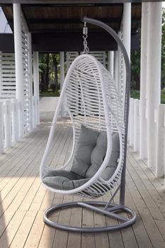 egg chair outdoor motorhome captain seat covers wicker rattan garden swing patio