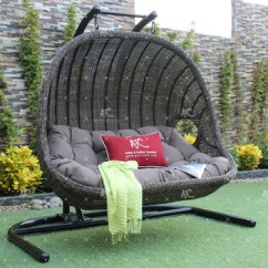 Outdoor Wicker Swing Chair And A Half Sleeper Canada Double Seater Patio Garden Poly Rattan Hammock