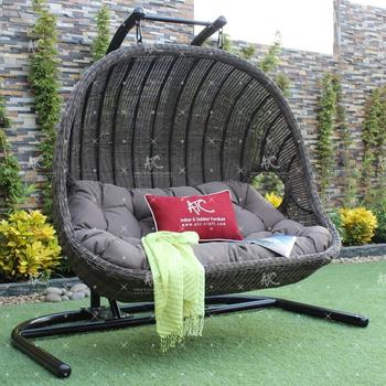 wicker hammock chair stokke tripp trapp high complete 4 piece bundle double seater outdoor patio garden swing poly rattan