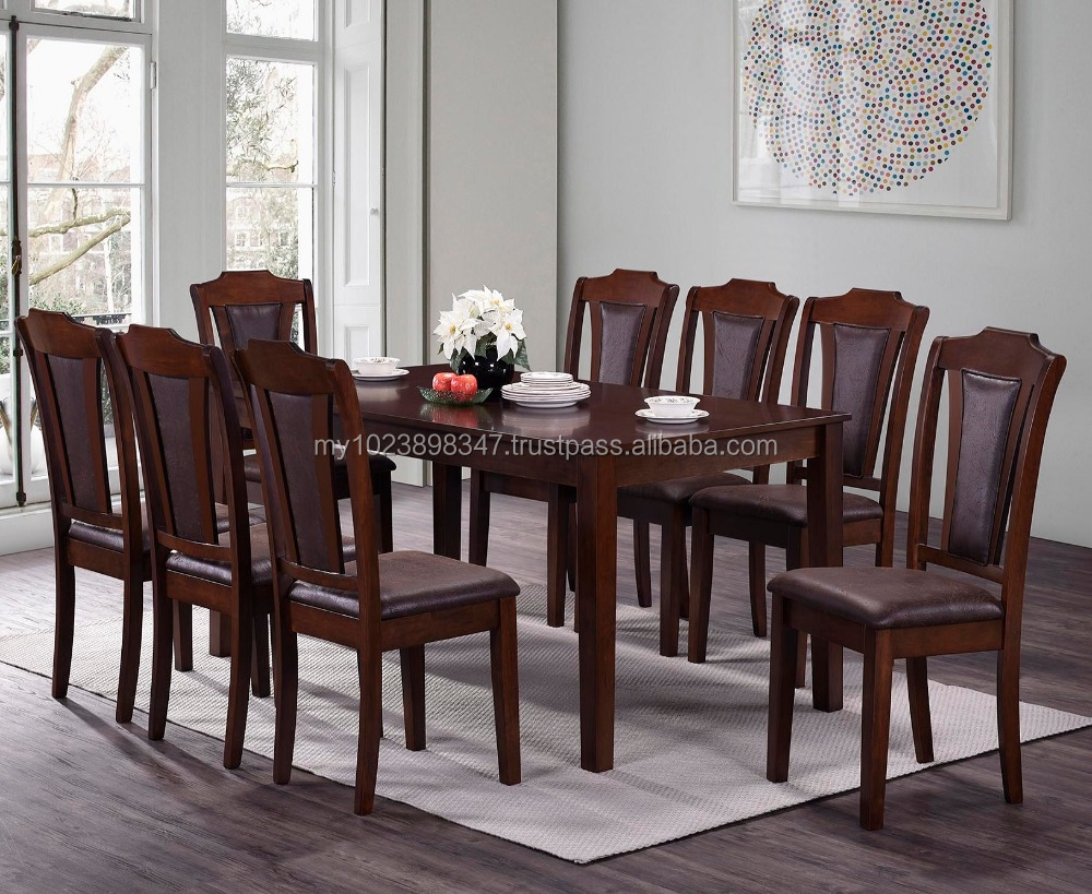 8 Chair Dining Set Wood Dining Table With 8 Chairs Buy 8 Seater Dining Table 8 Cushion Seat Chairs With Rectangular Table Malaysia 8 Chairs Dining Set Product On