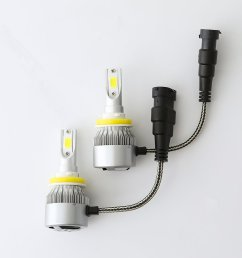 led headlight bulbs headlight bulb h11 h9 h8 all in one conversion kit led headlights h11 with cob chips 8000 lm 6500k cool white beam bulbs ip68 waterproof [ 1000 x 1000 Pixel ]