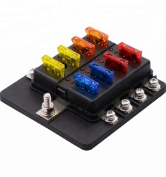 universal waterproof 8 way circuit car fuse blocks holder 32v dc blade tractor fuse box [ 1000 x 1000 Pixel ]