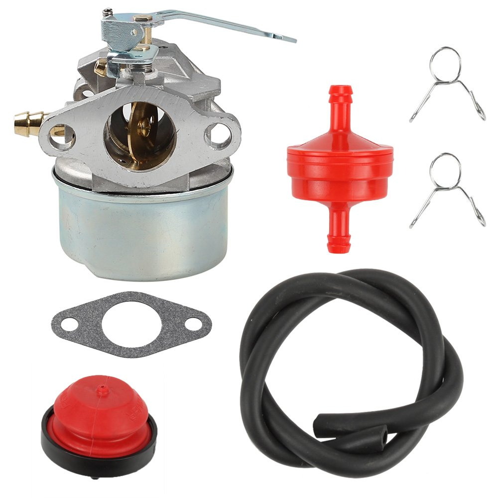 hight resolution of get quotations anzac carburetor with gasket primer bulb fuel filter fuel line clamps for tecumseh