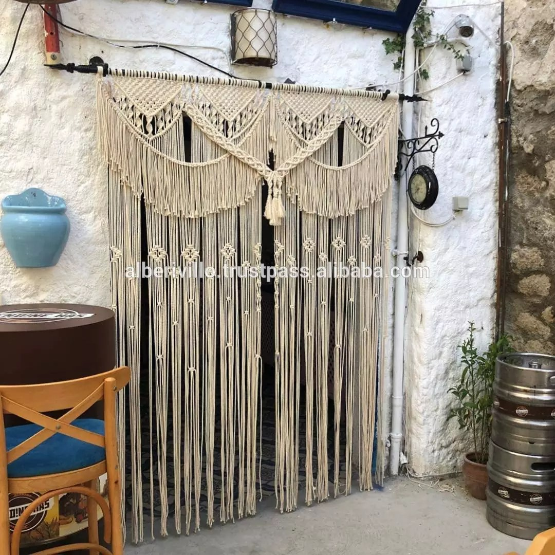 cotton macrame wall hanging curtain room divider macrame curtains buy macrame wall curtains curtain design 2019 macrame latest curtain designs
