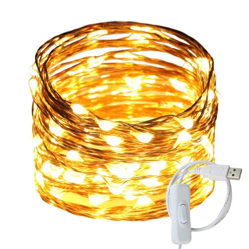 small resolution of get quotations ruichen tm fairy lights usb plug power 33ft 100 led copper wire starry string lights