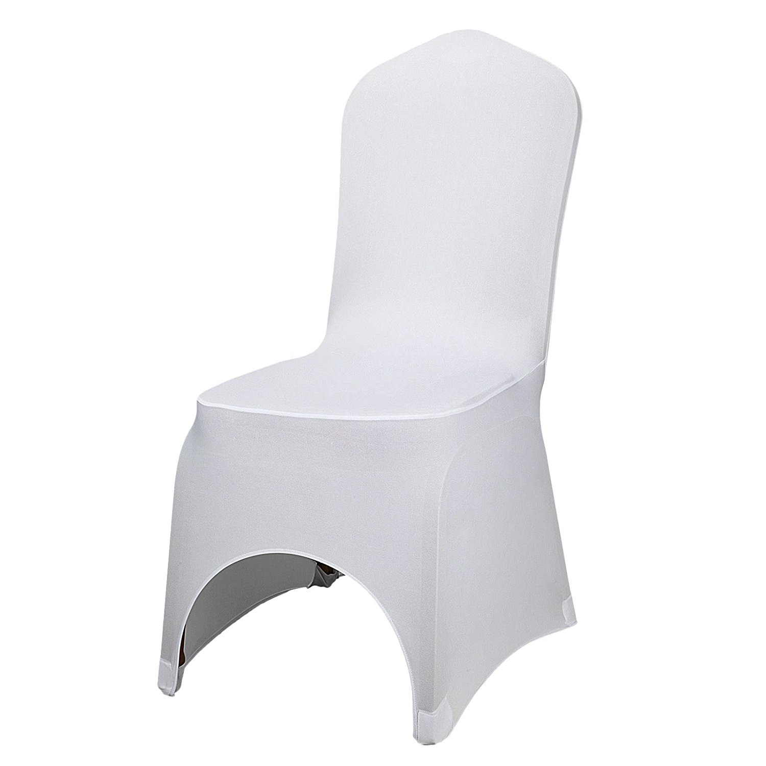 light pink spandex chair covers patio with shade cheap rent wedding find get quotations popsport 100pcs white stretch folding arched front for