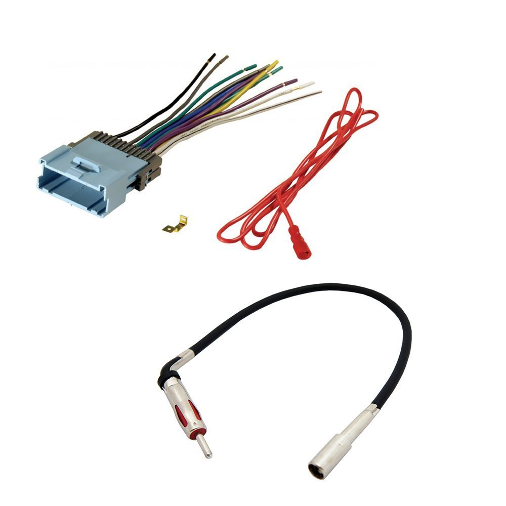 hight resolution of aftermarket car stereo radio receiver wiring harness radio antenna adapter for select chevrolet and pontiac