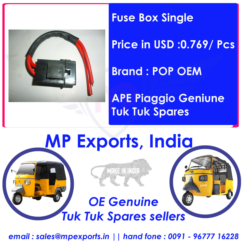 medium resolution of  ape tuk tuk spares fuse box single