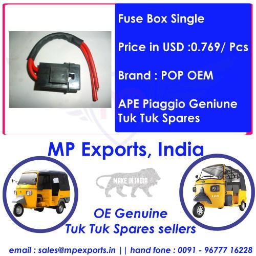 small resolution of  ape tuk tuk spares fuse box single