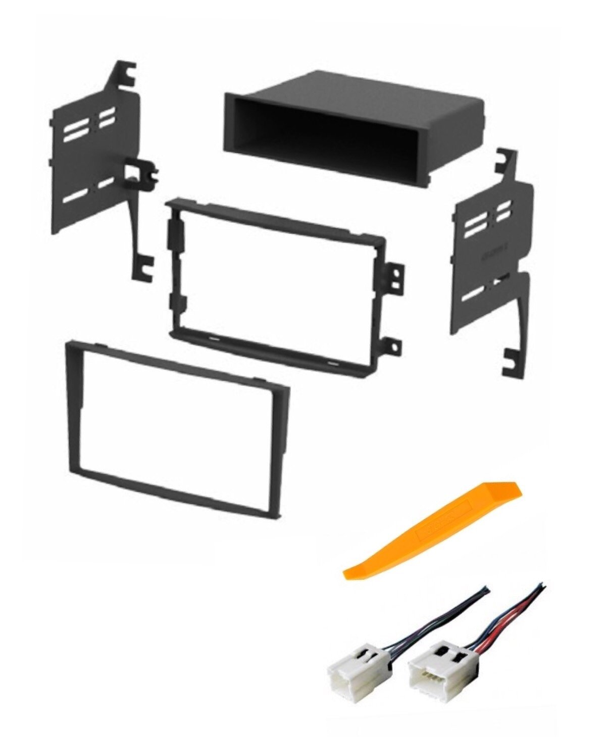 hight resolution of get quotations asc audio car stereo dash install kit and wire harness for installing an aftermarket radio for