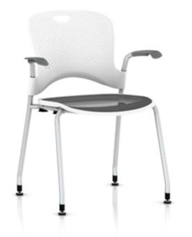 herman miller stacking chairs chair repair buy stackable caper molded seat fixed arms flexnet hard floor glides
