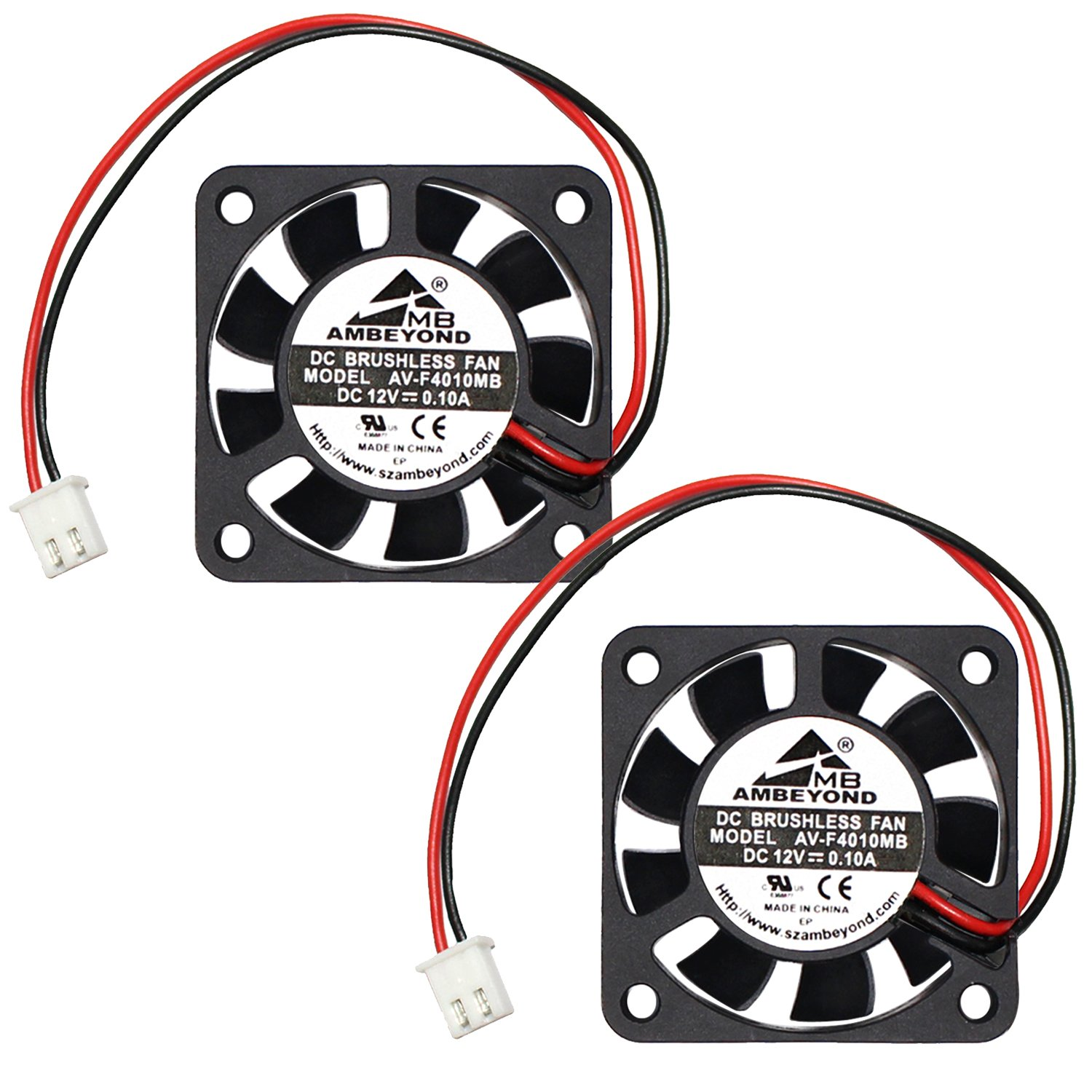 hight resolution of get quotations 2 packs 40 x 40 x 10mm 4010 12v 0 10a brushless dc cooling fan