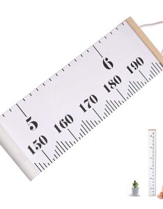 Baby height growth chart hanging ruler for children roll up canvas also cheap find deals on line rh guideibaba