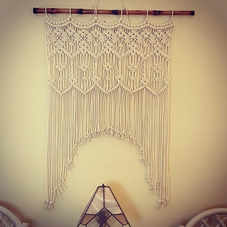 cordon drap de porte 100 coton