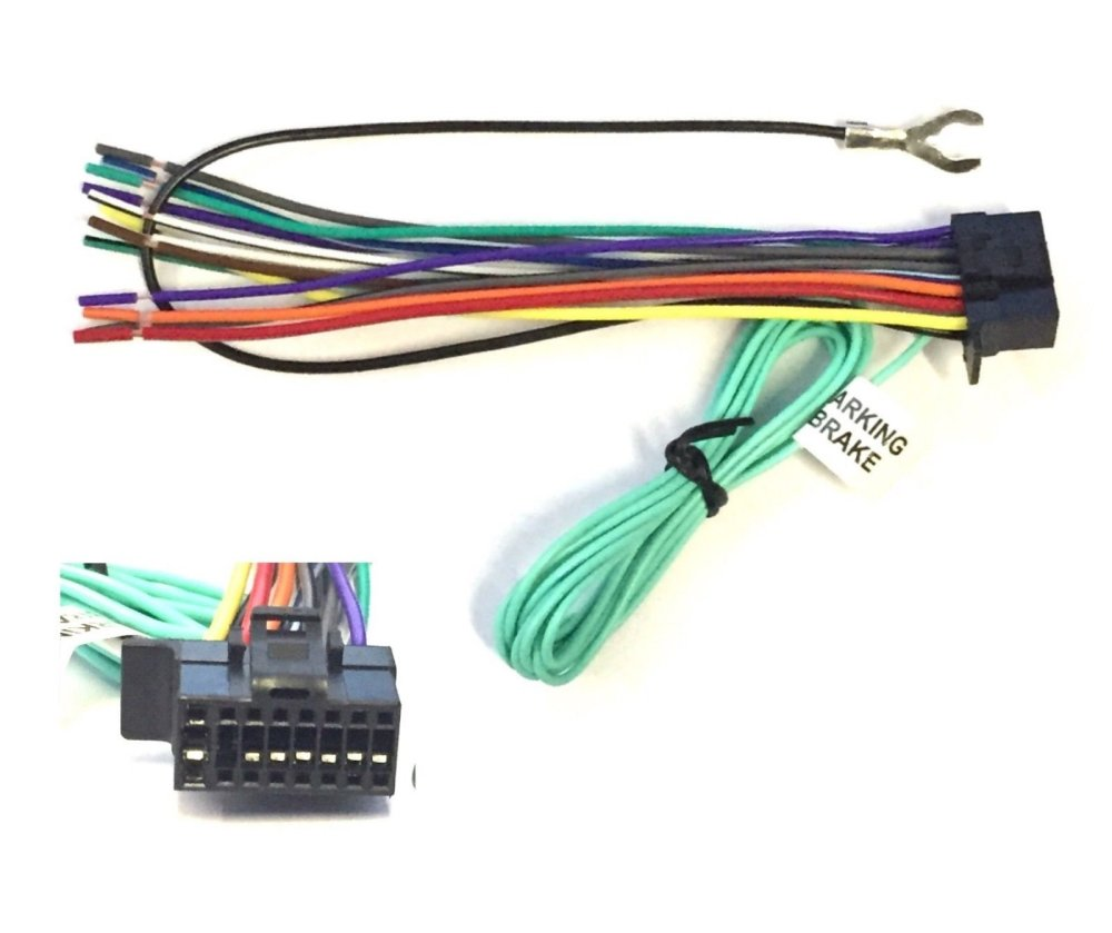 medium resolution of asc car stereo power speaker wire harness plug for sony xplod es 16 pin
