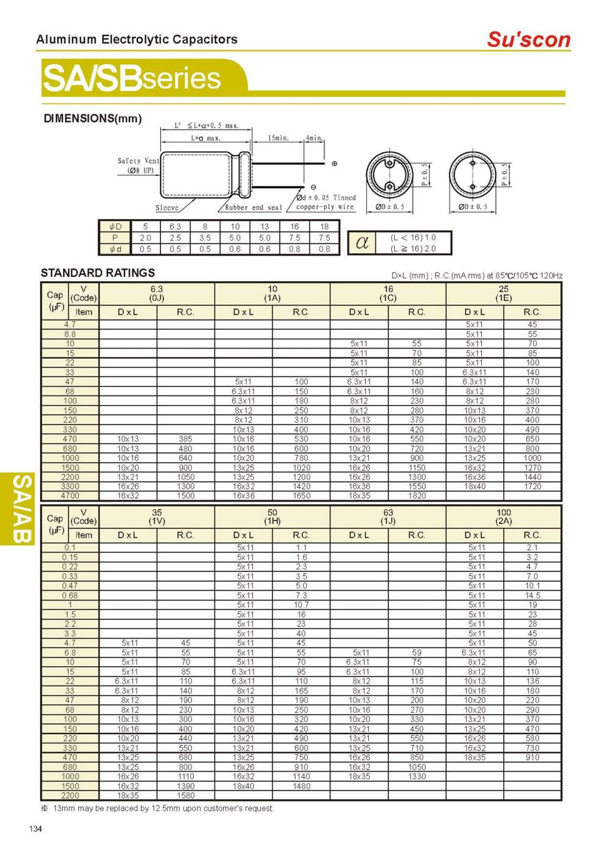 medium resolution of sb 10v 10uf low leadkage current purpose electrolytic capacitors