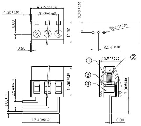 5.0mm Pcb Euro Type Amp 9 Pin Dc Power Screw Terminal