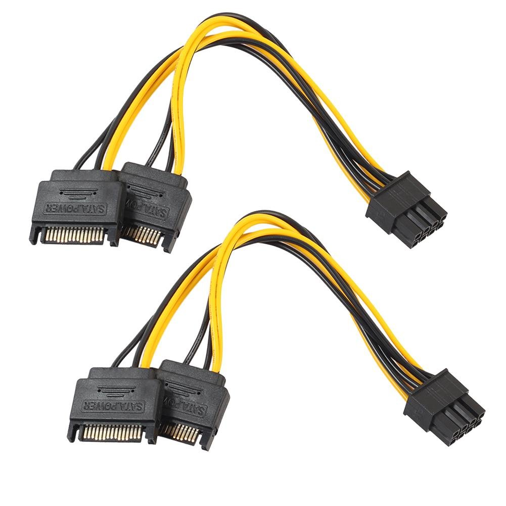hight resolution of get quotations alloet 2pcs dual 15pin sata male to pcie 8pin 6 2 male video