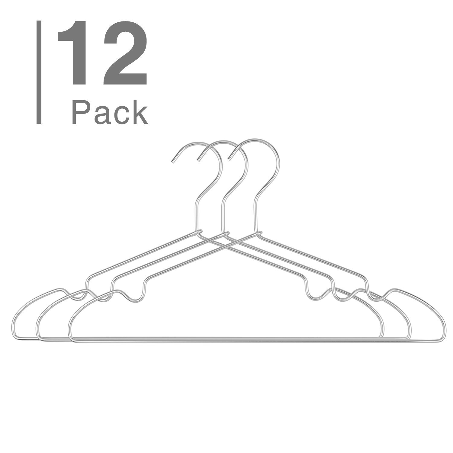Buy HOUSE DAY Chrome Hangers Metal Hangers 20 Pack Strong