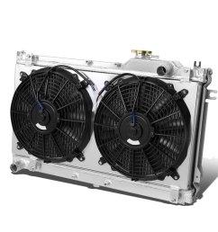 get quotations mazda miata mx 5 aluminum dual core 2 row bolt on cooling radiator [ 1200 x 1200 Pixel ]