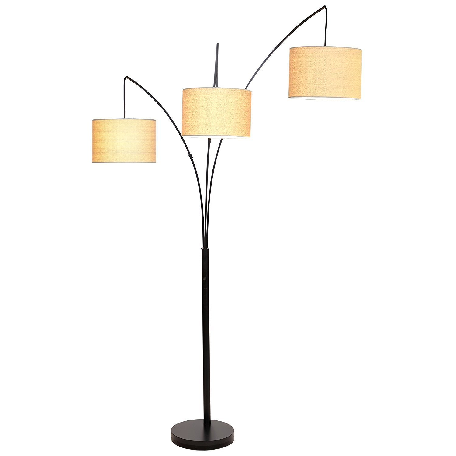 living room standing light rustic furniture sets buy brightech trilage led 3 arc floor lamp with hanging shades