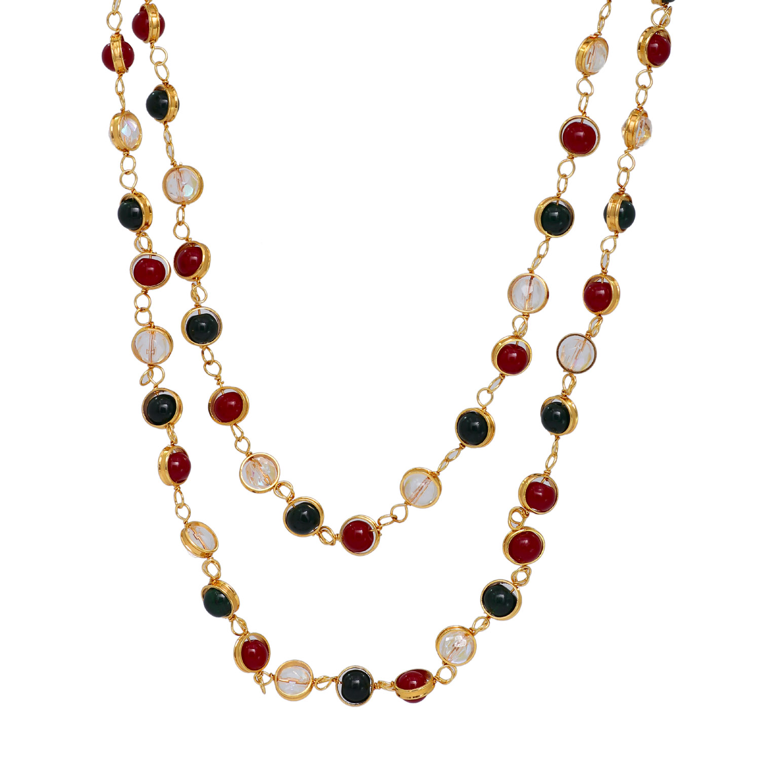 multicolor stone adorned linked