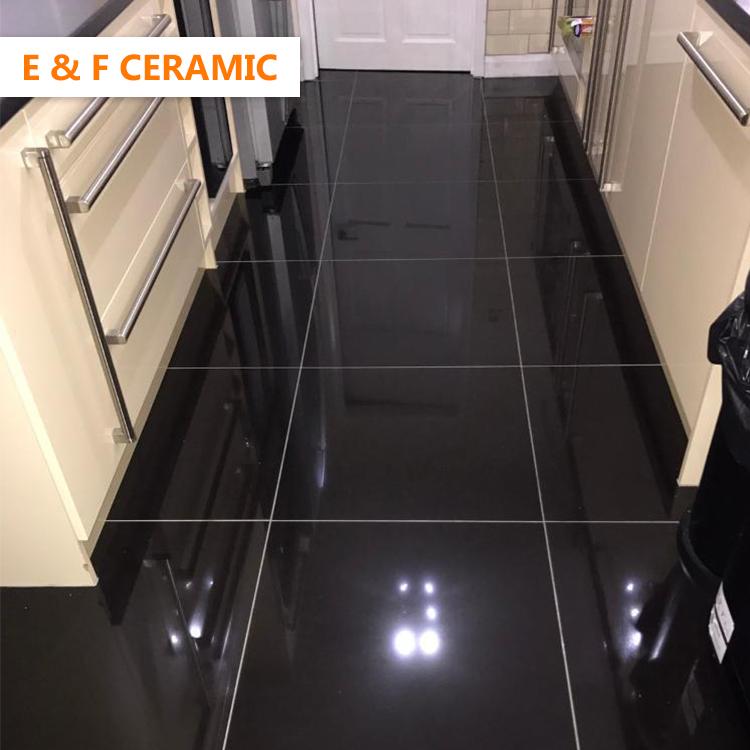 600 x 600mm 10mm polish pottery homogeneous line making floor tiles black light large thin polished porcelain tile buy polished porcelain tile black