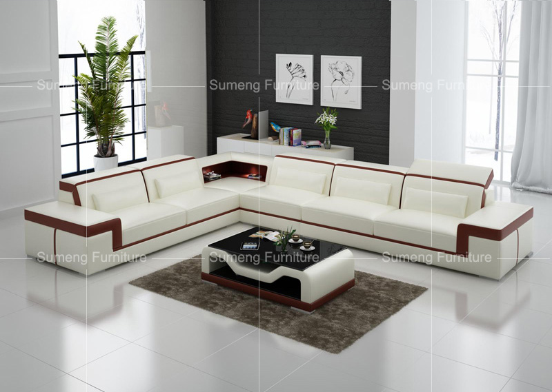 fancy sofa set design wooden legs for india best quality latest living room white and brown genuine leather corner designs