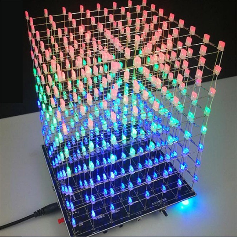 hight resolution of get quotations dingdong store electronic diy kit 3d squared led diy parts 8x8x8 5mm rgb led cube kit