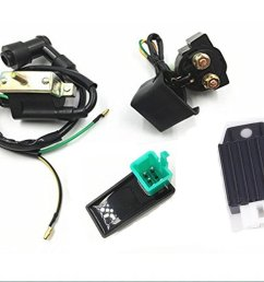 get quotations templehorse high performance racing ignition coil ac cdi box regulator rectifier relay for 50cc 70cc 90cc [ 1024 x 768 Pixel ]