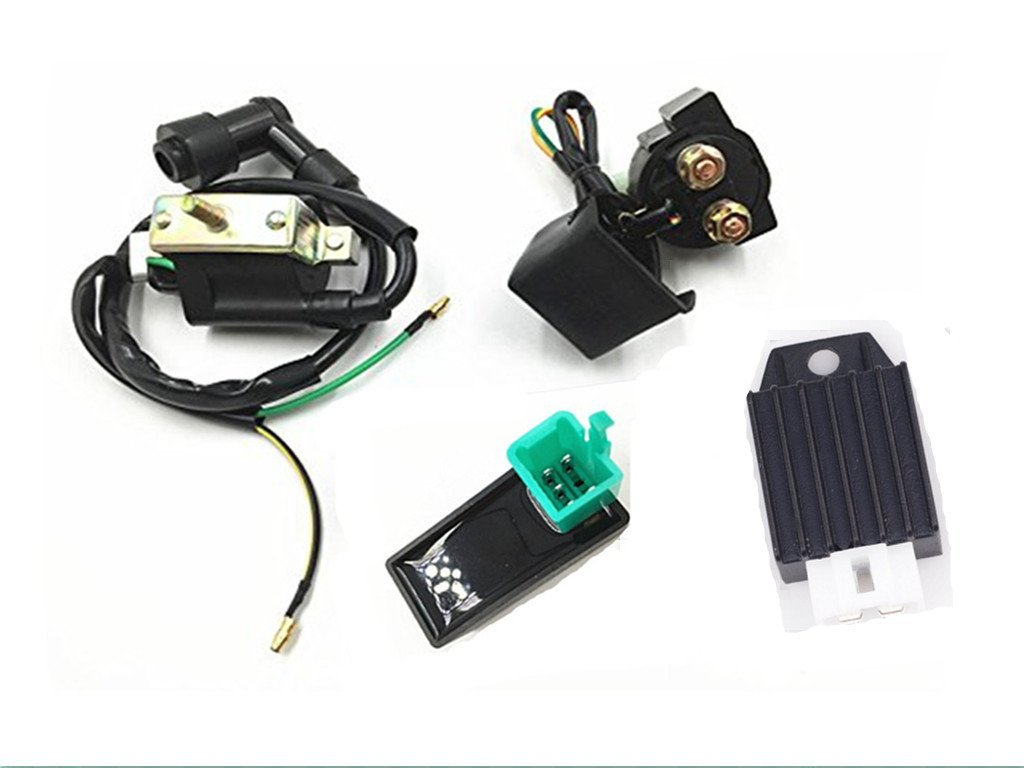 hight resolution of get quotations templehorse high performance racing ignition coil ac cdi box regulator rectifier relay for 50cc 70cc 90cc