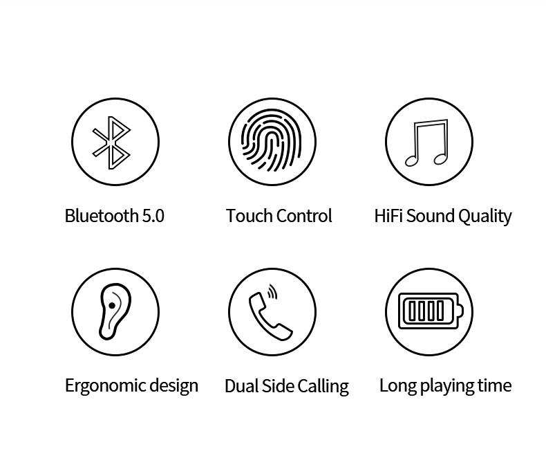 Amazon Top Seller 2018 In-ear Earbuds I7s Tws Wireless