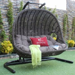 Hanging Chair Double Black Farmhouse Table And Chairs Wicker Synthetic Rattan Outdoor Hammock Buy