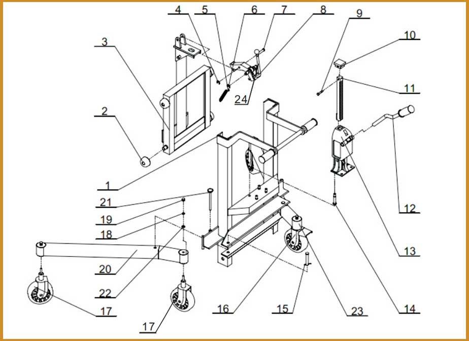 Sinolift Dt800 Industrial Electric Hydraulic Drum Lift