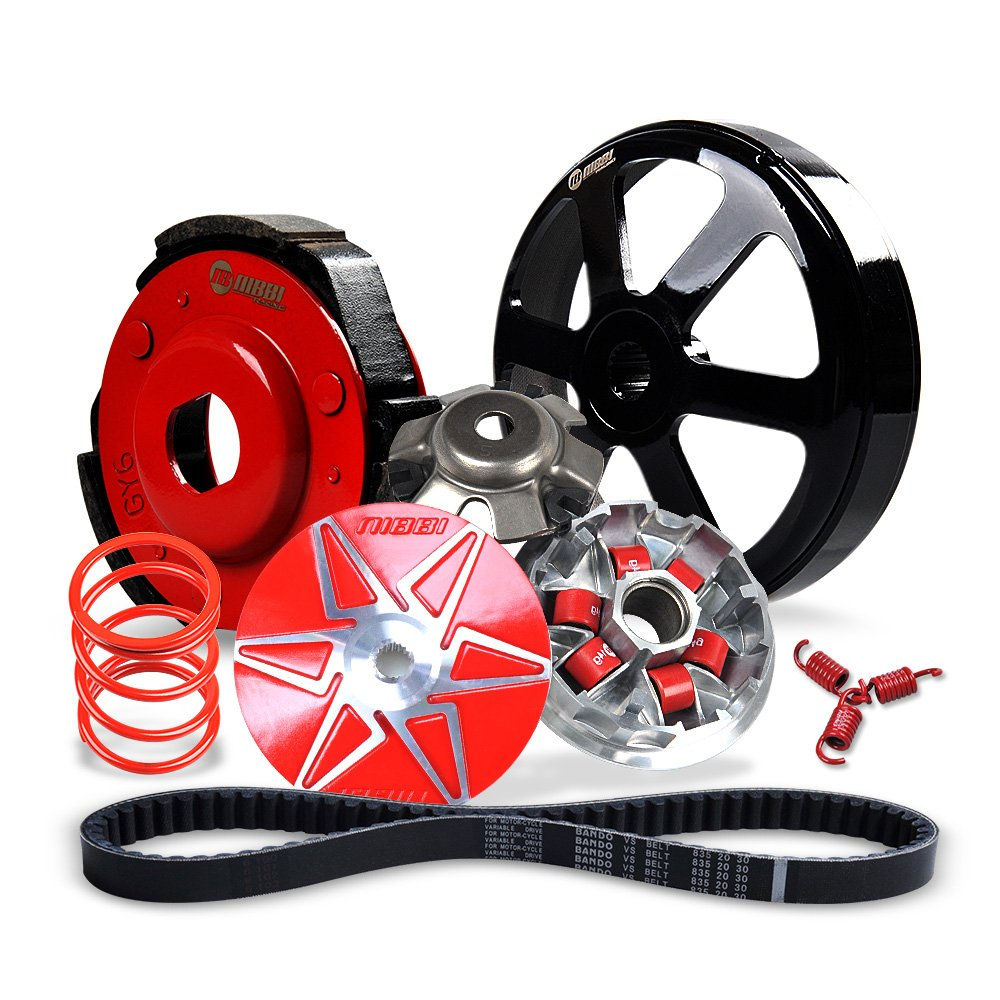 medium resolution of nibbi 150cc transmission kit for gy6 engine scooter pulley plate pulley face clutch clutch housing 1500rpm torque spring 1500rpm clutch spring 835cm belt
