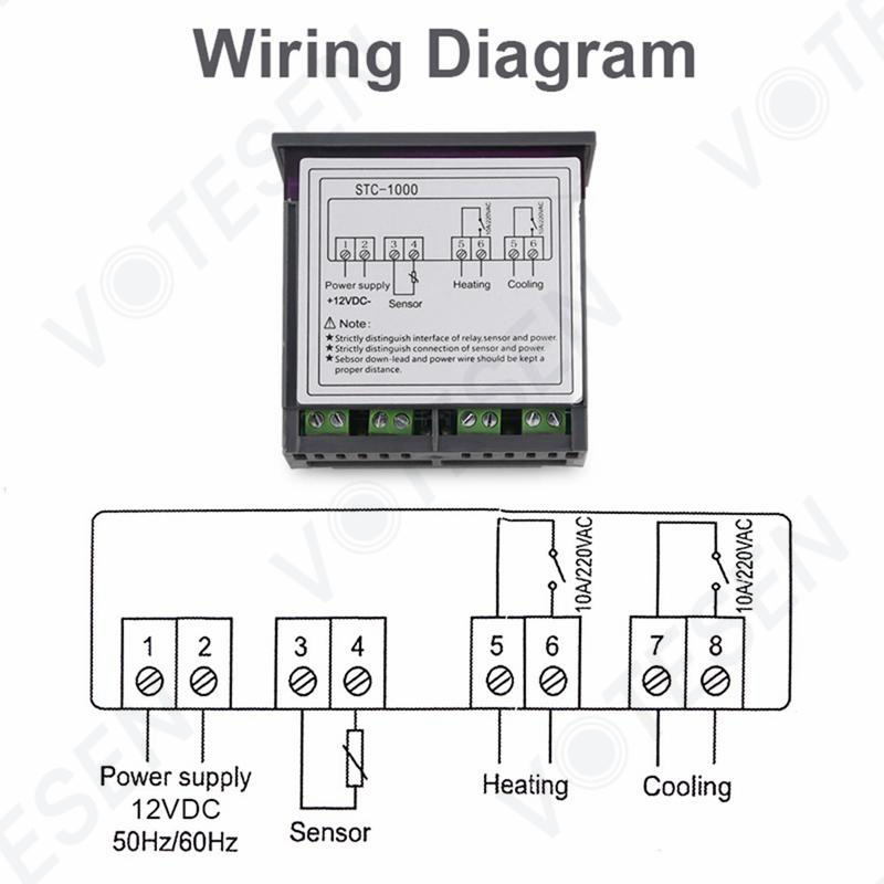 Stc-1000 Digital Temperature Controller Thermostat For