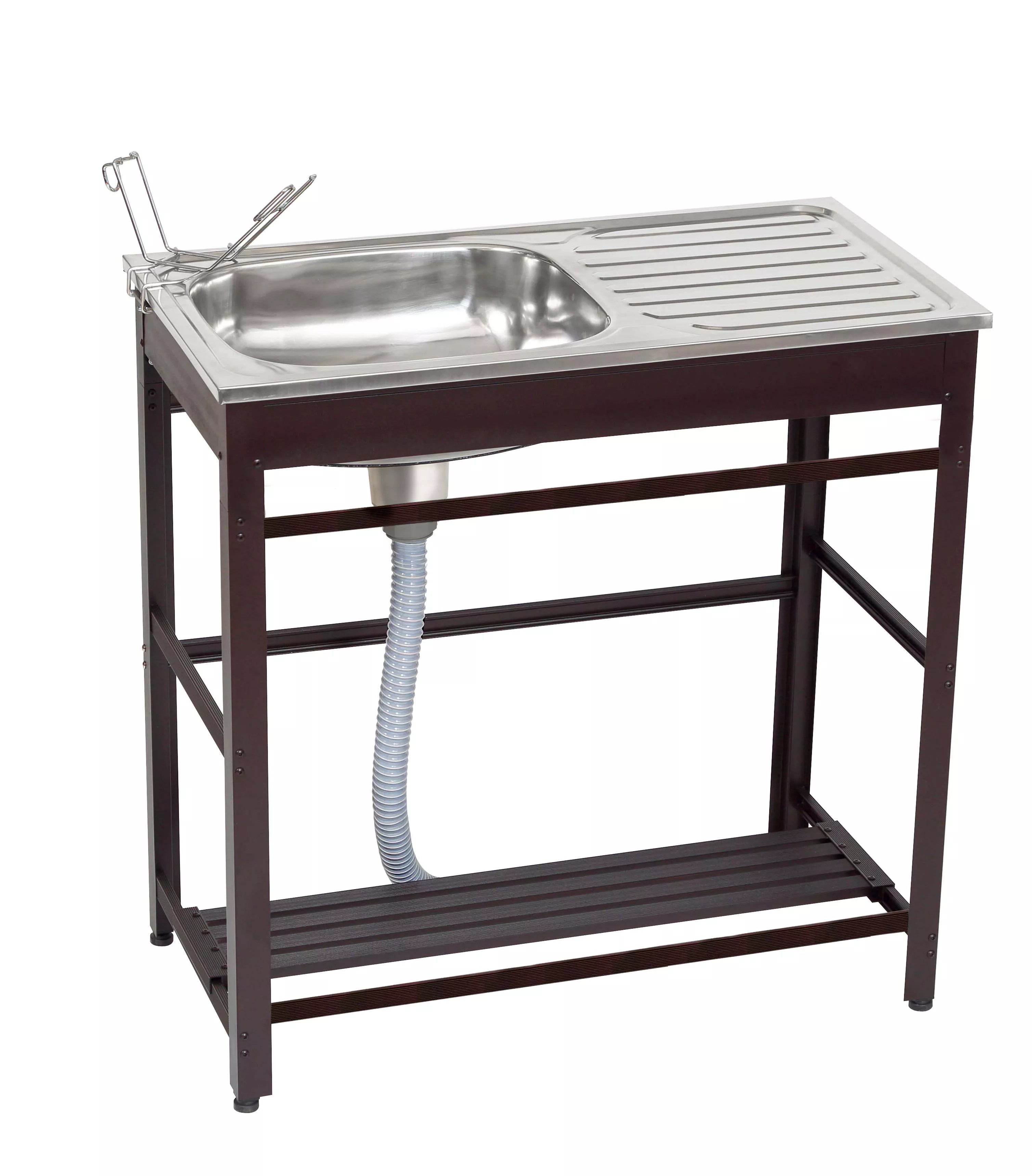 portable outdoor sink for garden and yard use stainless steel material easy to carry natural brown color garden sink buy universal stainless steel