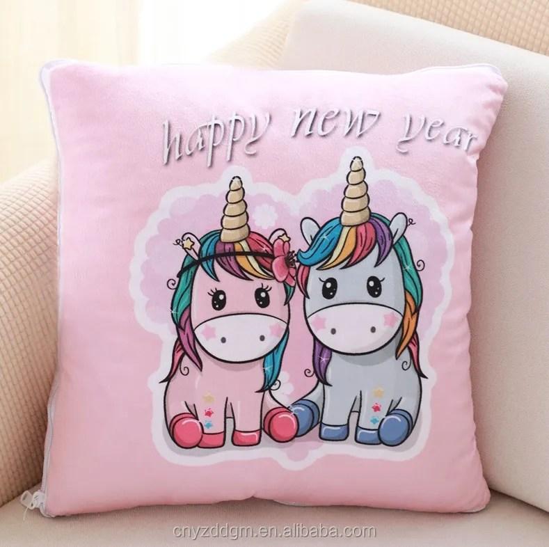 hot sale cartoon printing 2 in 1 pillow and blanket set kids soft animal pillow unicorn blanket for girls and boys buy 2 in 1 blanket pillow blanket