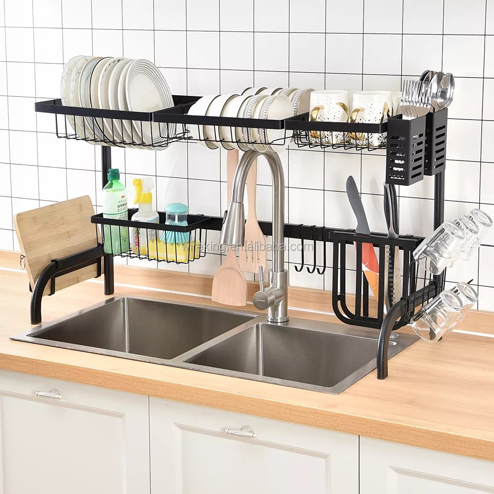 65cm79cm85cm length width over sink dish drying rack dish drainer rack kitchen storage holder utensil holder counter organizer buy over sink dish